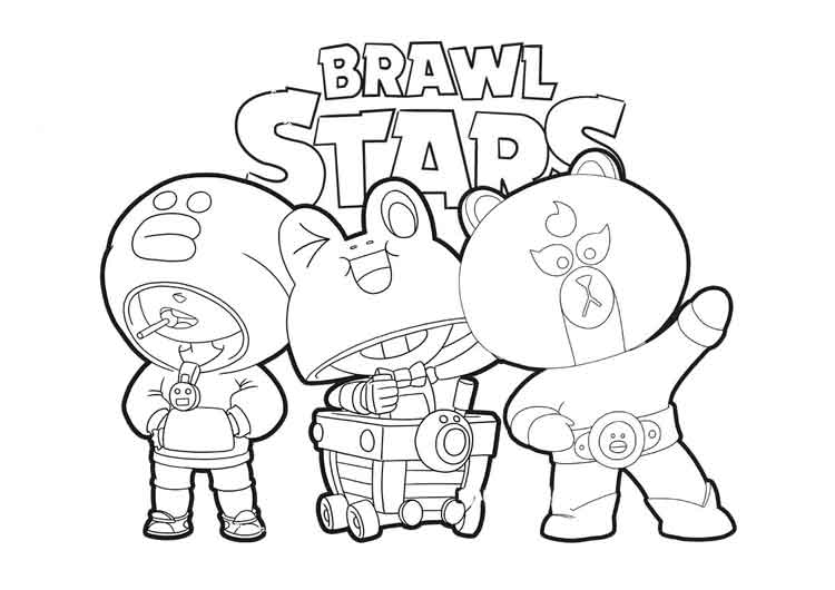 Brawl Stars Coloring Pages for Kids
