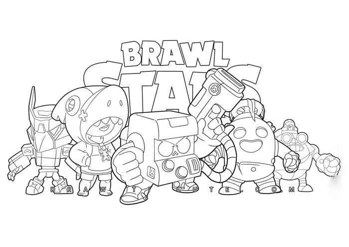 Brawl Stars Coloring Pages