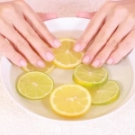 ванночки для роста ногтей с морской солью и лимоном