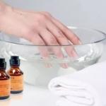 ванночки с йодом и солью для ногтей