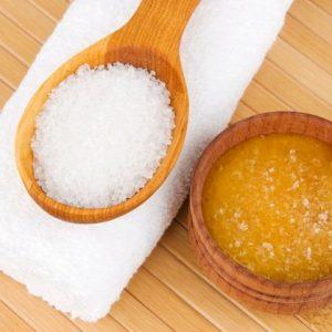 Морская соль и мед для волос