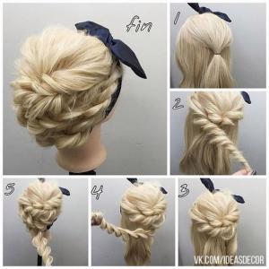 Плетение красивых кос пошагово