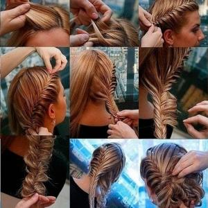 плетение кос фото пошагово