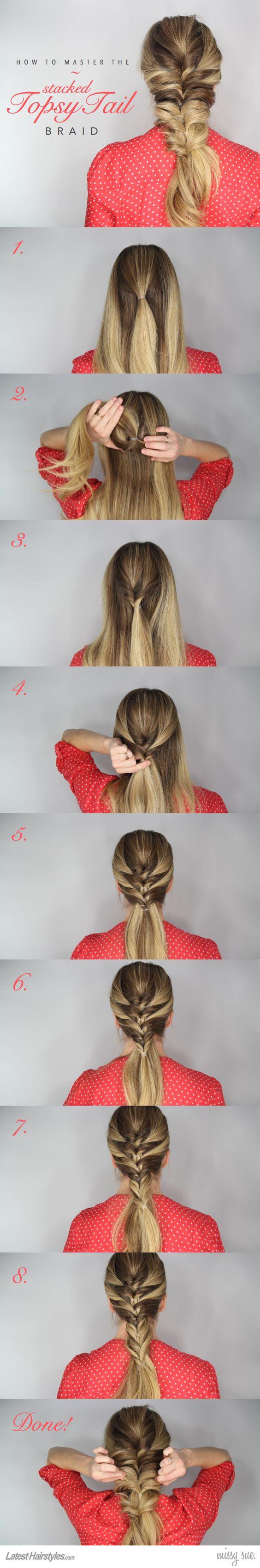 плетение объемной косы пошагово