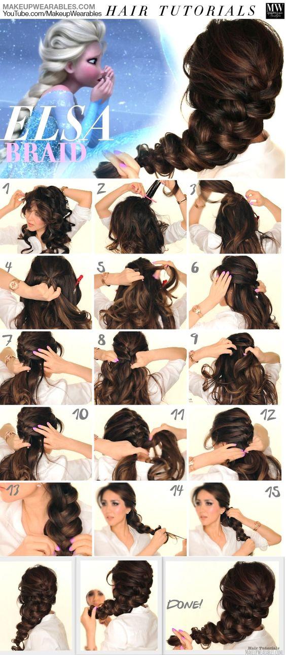 Плетение объемной косы на завитые волосы