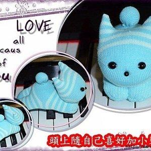 игрушка +своими руками +из носков котенок