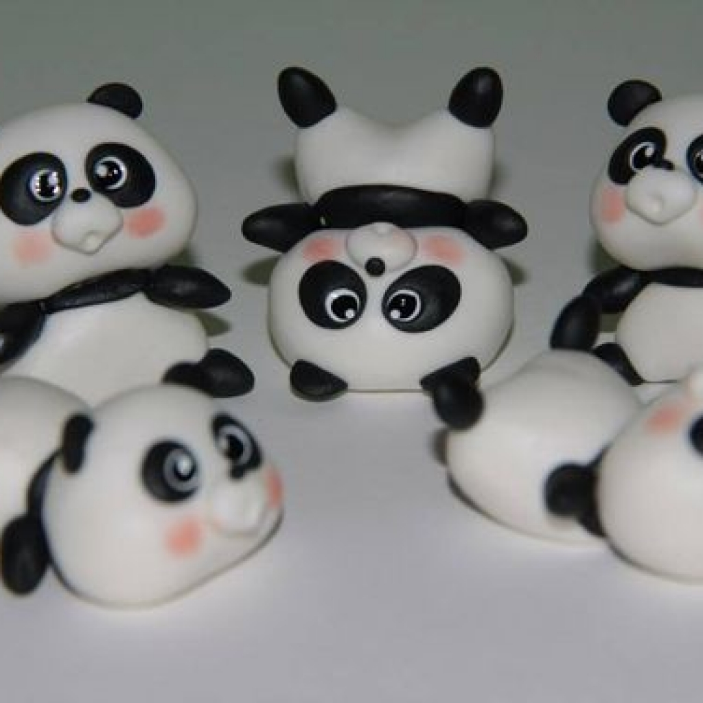 Как сделать из пластилина панду