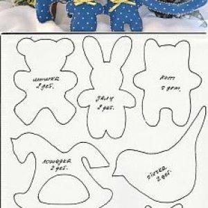 выкройки игрушек из фетра