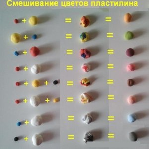 пластилин как смешивать цвет