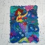 картины из пластилина море
