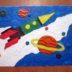 картины из пластилина космос