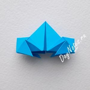 снежинка оригами из модулей