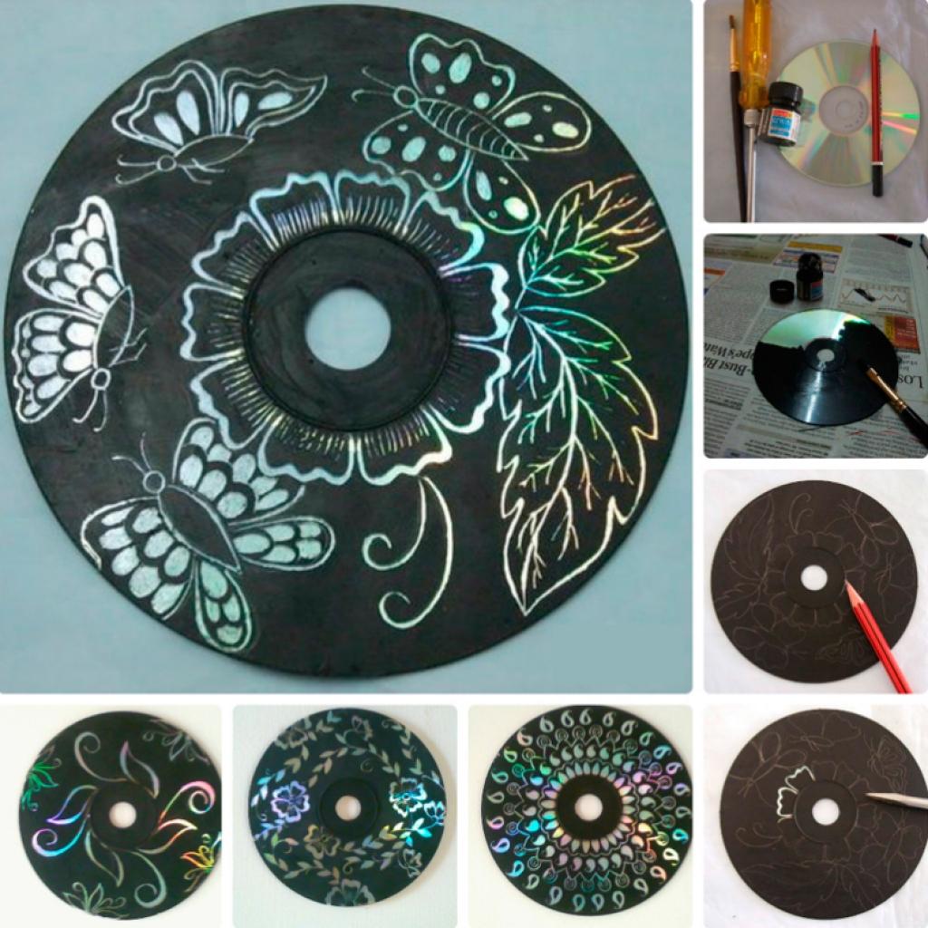 Поделка из старых дисков своими руками на новый год