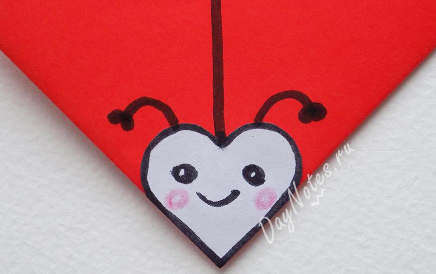 закладка оригами уголок пошаговое фото