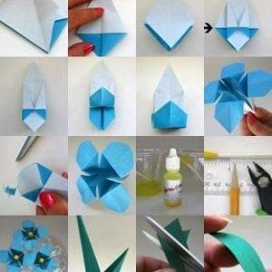Origami-cveti-300x300 Оригами роза схема - Оригами из бумаги