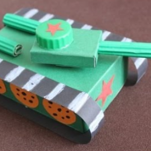 поделка к 23 февраля танк