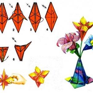 cvety-yz-bumahy1-300x300 Оригами роза схема - Оригами из бумаги
