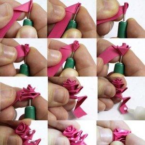 fleurs-origami-rose-300x300 Оригами роза схема - Оригами из бумаги