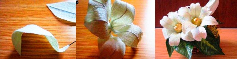 Лилии из конфет