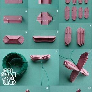 origami-300x300 Оригами роза схема - Оригами из бумаги