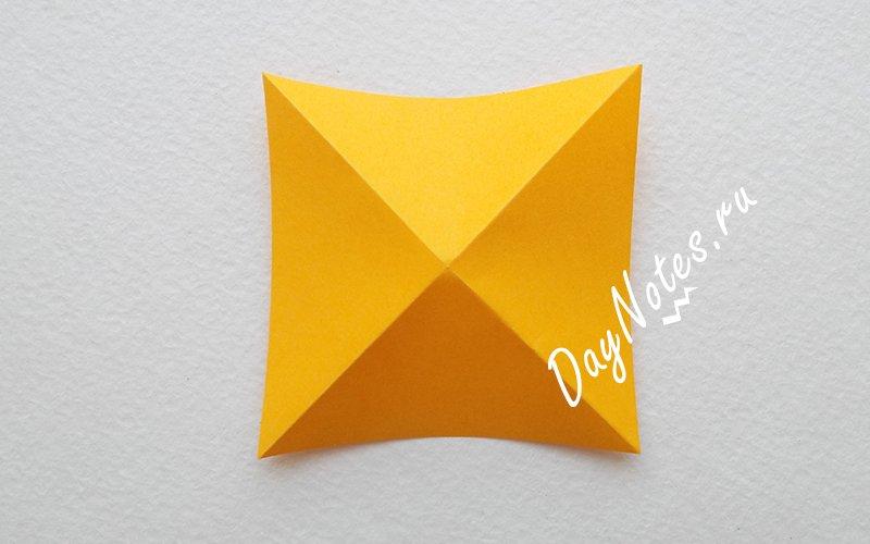 оригами цветок из бумаги мк