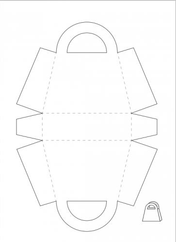 шаблон сумочки из бумаги