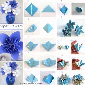 puatensia-300x300 Оригами роза схема - Оригами из бумаги