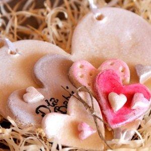 сердце из соленого теста на день влюбленных