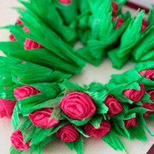валентинка из гофрированной