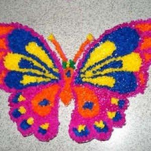 бабочка методом торцевания