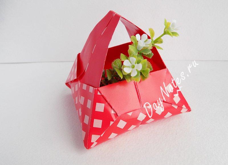 корзинка к пасхе из бумаги