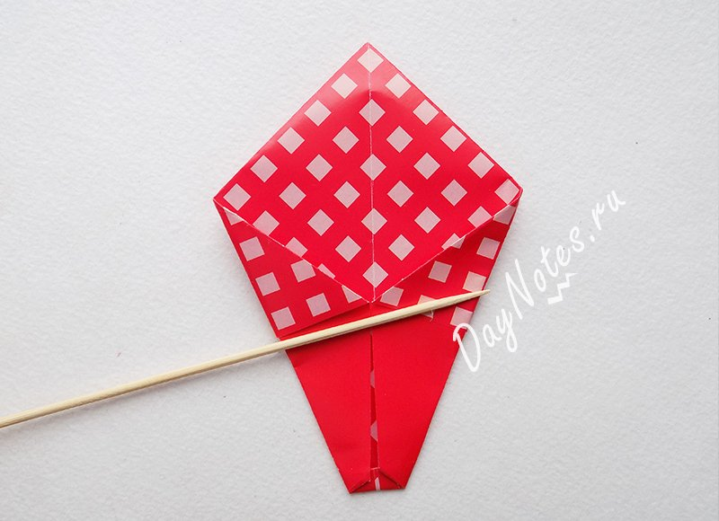 оригами из бумаги корзинка