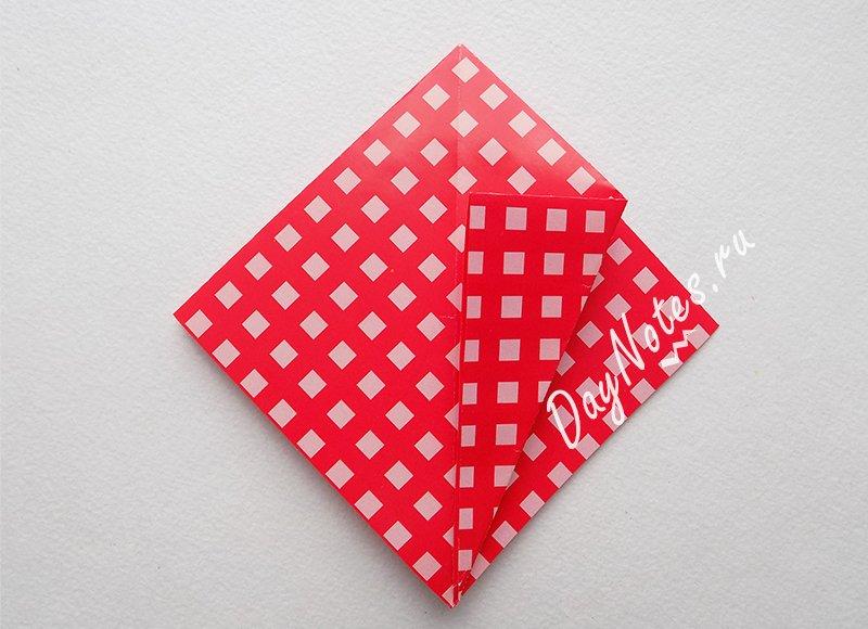 корзинка оригами из бумаги простая