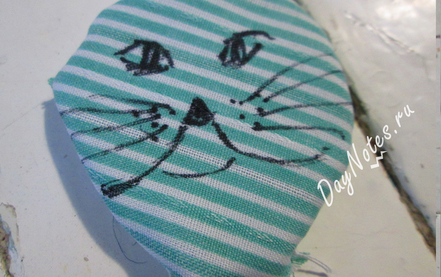 котик из ткани своими руками