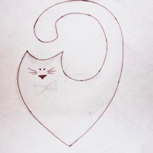 котик из ткани выкройка