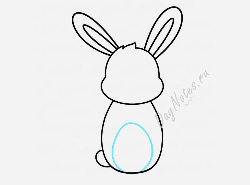 кролик карандашом