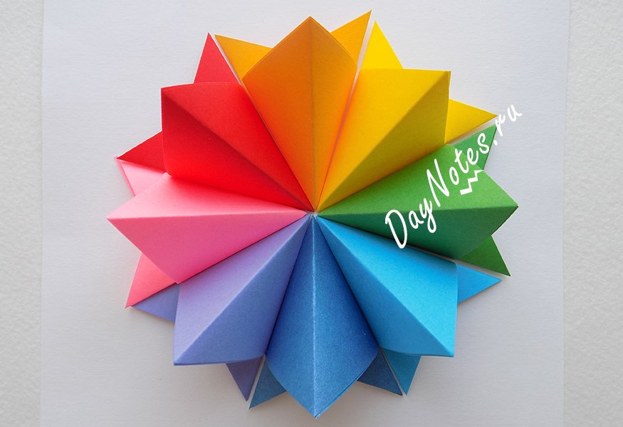 простые открытки на 8 марта оригами