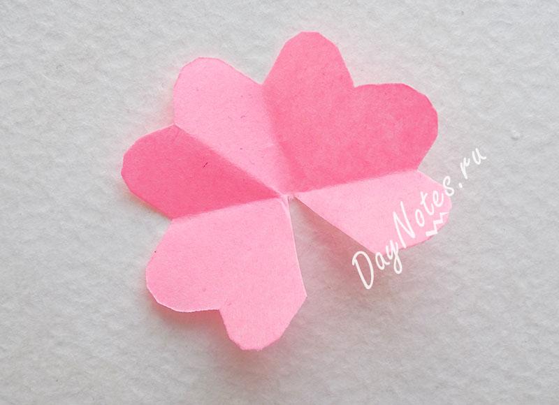 цветы из бумаги для открытки