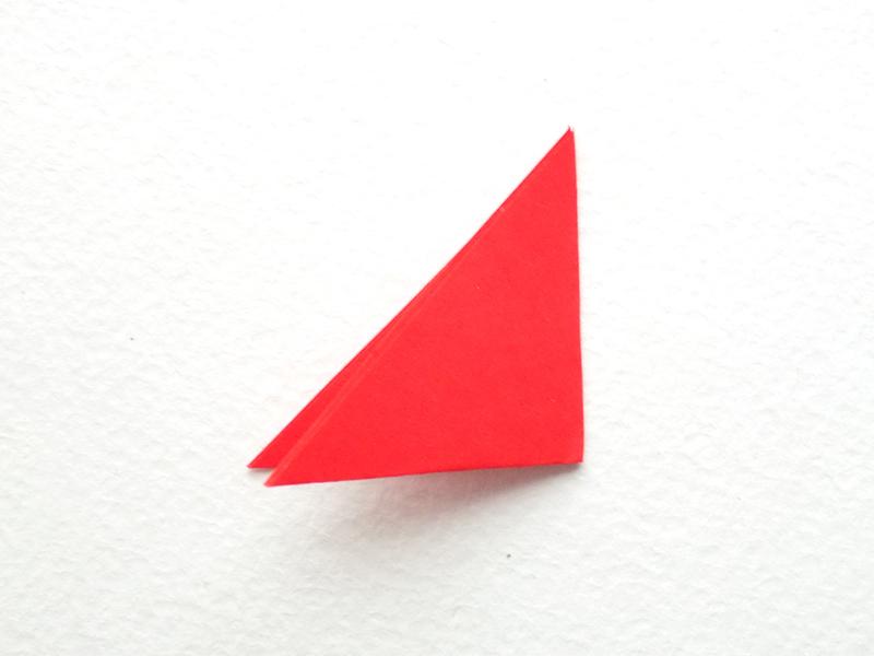 гвоздика из бумаги на открытку
