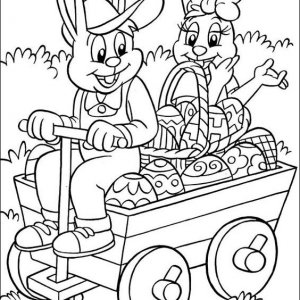 раскраски к пасхе для детей распечатать кролики