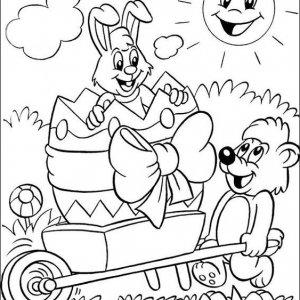 раскраски к пасхе для детей распечатать
