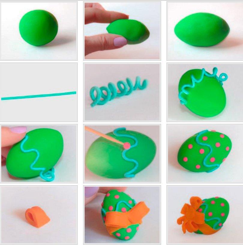 яйцо из пластилина на пасху