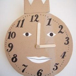 Часы из картона своими руками для детей фото 487