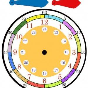 шаблон часов для детей