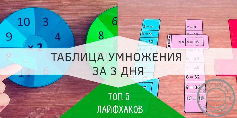 как запомнить таблицу умножения быстро и легко