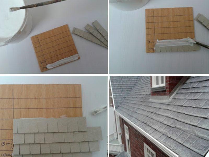 крыша для кукольного дома