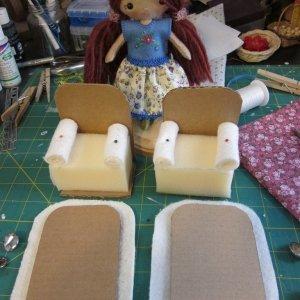 кресло для кукол из картона