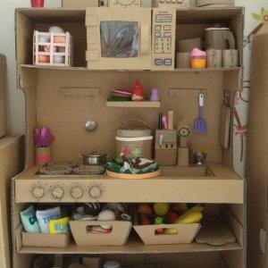 кухня для куклы из картона
