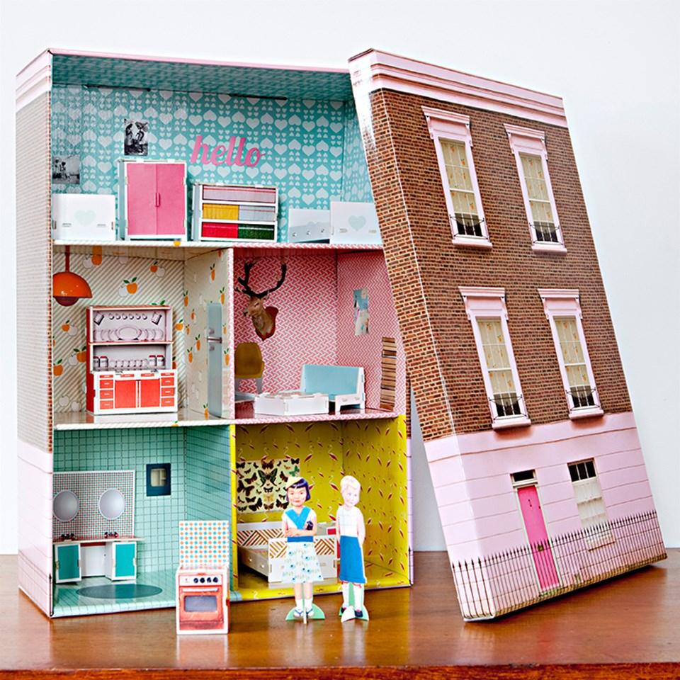 Дом для кукол из картонной коробки своими руками фото 845