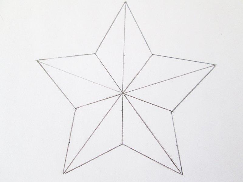 звезда из бумаги на 9 мая шаблон
